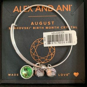 Alex and Ani August birthstone bracelet